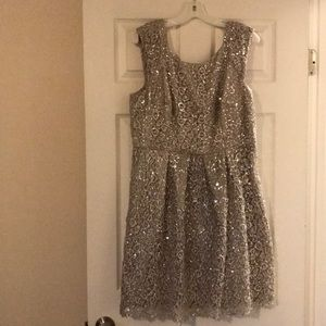 Gorgeous champagne colored sequin dress size 16